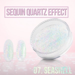 Sequin Quartz Effect Sea Shell